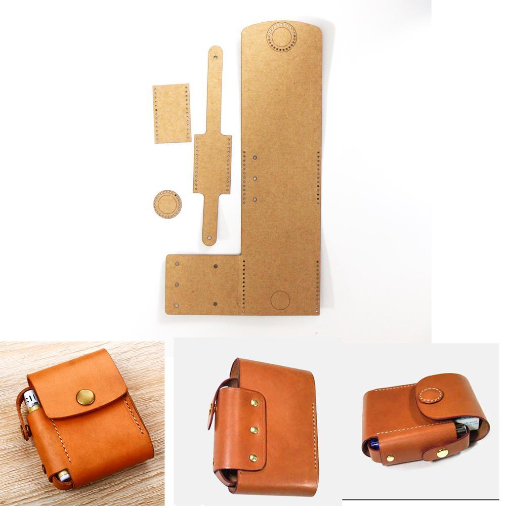 Leather Kraft Sewing Pattern/template For Men/boy Pocket Holder Diy Handmade Craft Stencil 11x10x3cm