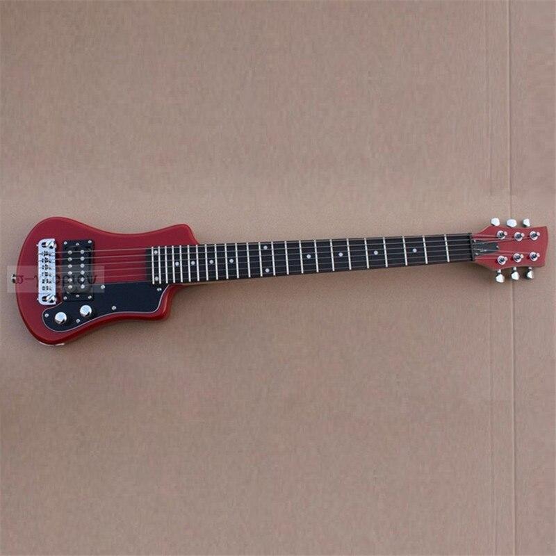 Bonne qualité mini guitare électrique voyage guitare tilleul corps palissandre touche guitare gratuite sac livraison gratuite