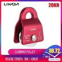 Lixada Micro poulie Mobile Max, roulement 20kN, corde de 1/2 pouces pour le gréement darbustes, accessoire descalade, sculpture darbres