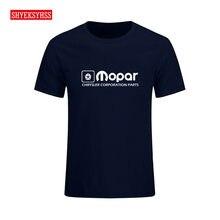 Camiseta de vestuário do carro do músculo modificado do desempenho da fábrica da camisa t exclusiva de chrysler do logotipo dos homens de mopar