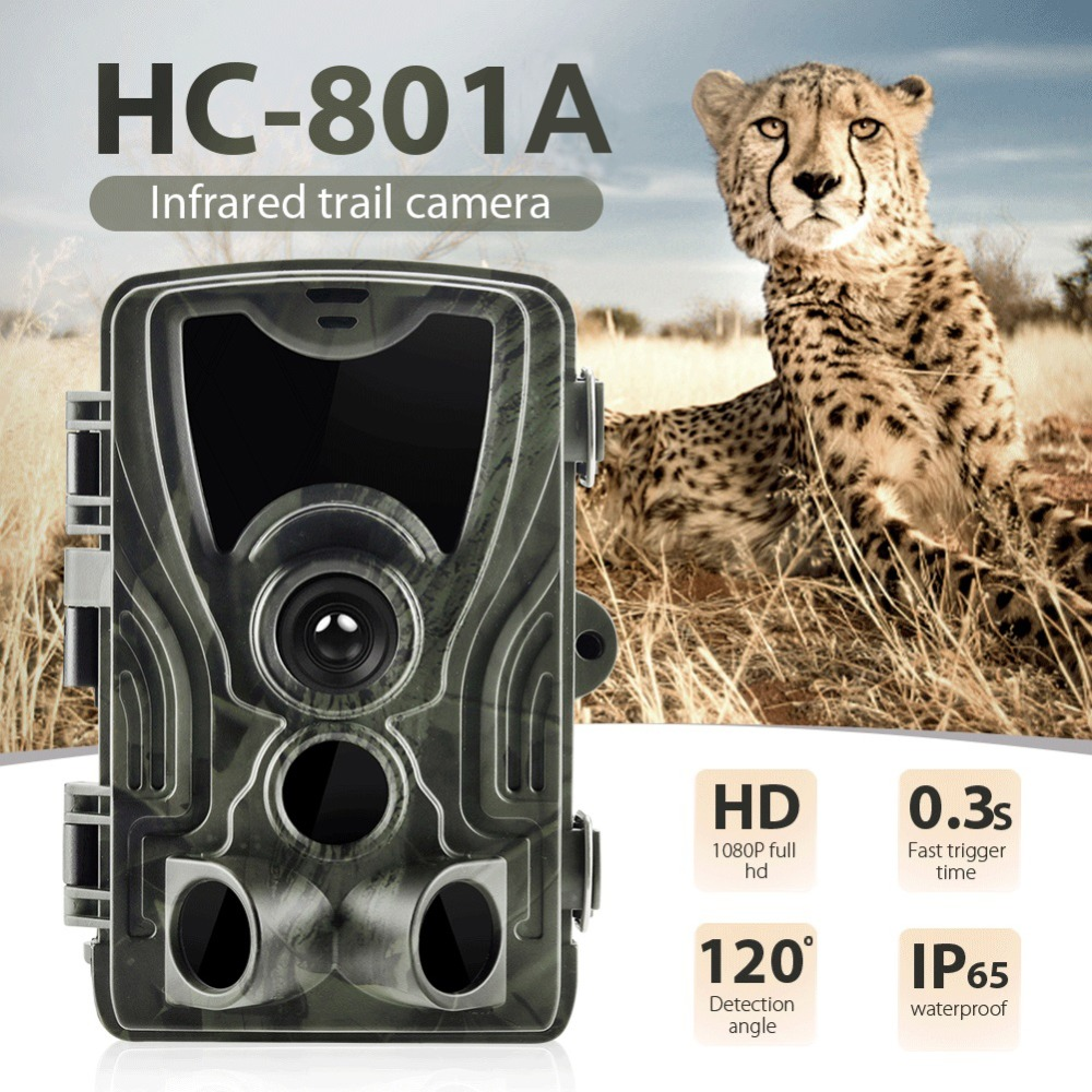 HC801A Hunting Trail Camera Night Version Wild Cameras 16MP 1080P IP65 Photo Trap 0.3s Trigger Wildlife Camera Surveillance