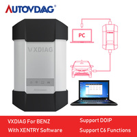 VXDIAG For Benz C6 Diagnostic Tool Powerful For Mercedes Powerful than Star C4 C5 For XENTRY 2019 with HDD Truck VXC PLUS DOIP
