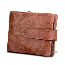 Luxury Genuine Leather Wallet Men Coin Purse Male Wallets Vintage Clutch Fashion RFID BLOCKING Card Holder