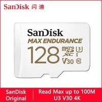 SanDisk MAX resistencia Micro SD de 32GB 128GB 64GB 256GB U3 V30 4K tarjeta de memoria Micro SD/TF Flash tarjeta MicroSD para Monitor de vídeo