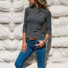 купить 2019 New Autumn Winter Black Elastic Slim Knitted Pullovers Sweaters Women Fashion Skew Collar Long Sleeve Casual Women Sweater дешево
