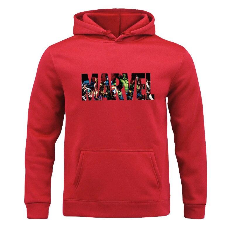 All-match Marvel HOODIE Hip Hop Street Wear Sweatshirts Skateboard Men/Woman Hooded Fleece Pocket Pullover Hoodies Male Coat 3XL