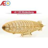 DIY Static Model Building Model 1:408 LZ 129 Hindenburg Zeppelin Airship 600mm Length Wooden Toys Building Toys Gift RC