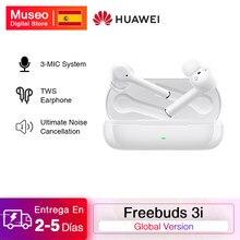 HUAWEI – écouteurs Bluetooth sans fil FreeBuds 3i TWS, Version globale, suppression ultime du bruit, système 3 micro
