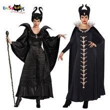 Fantasia de malévola preta feminina, cosplay de malévola 2, para mulheres e adultos, fantasia de halloween