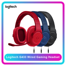 Logitech G433 7.1 Surround Gaming Headset Wired Headset DTS Headphone with Mic Nintendo Switch PS4 Xbox One tablets and mobile