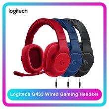 Logitech G433 7.1 משחקי Surround אוזניות Wired אוזניות DTS אוזניות עם מיקרופון Nintendo מתג PS4 Xbox אחת טבליות נייד