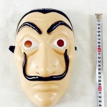 Mask Halloween-Masks Money-Heist Costume Cosplay-Accessories Movie Salvador Dali Paper-La-Casa-De-Papel