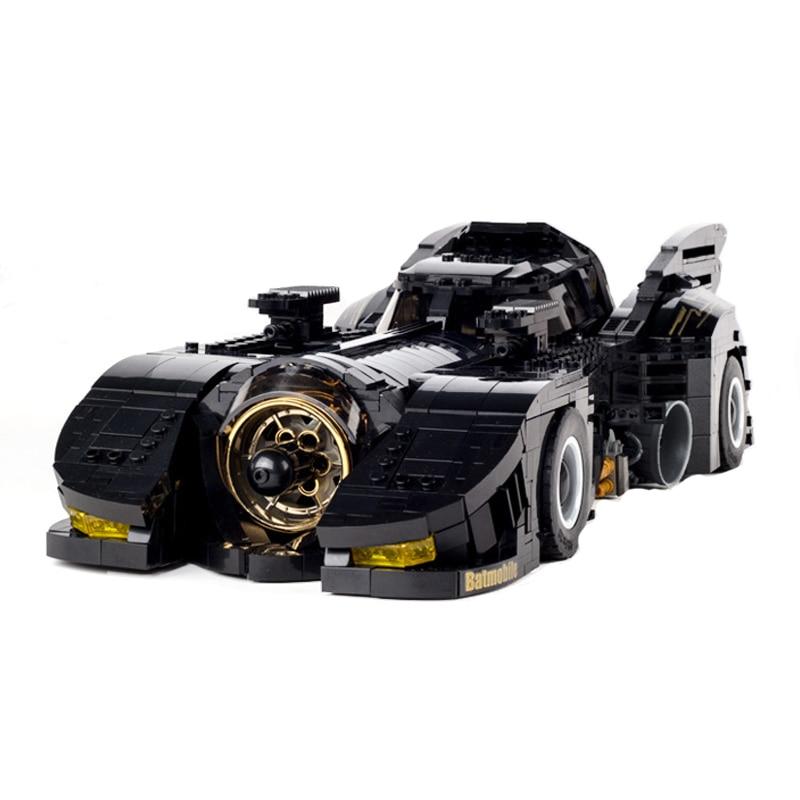 Técnica 1778 pçs o batmobile modelo de carro bulding blocos criador com luz tijolos conjunto figuras brinquedos presentes para crianças crianças