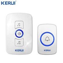 Kerui ワイヤレスドアベルシステム 32 曲オプションドアベル送信機チャイムようこそセキュリティ警報システムビルドのアンテナ