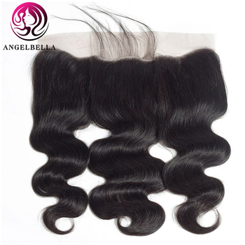 Angelbella 13x4 Lace Frontal Closure NC# Brazilian Body Wave Human Hair Free Part Remy