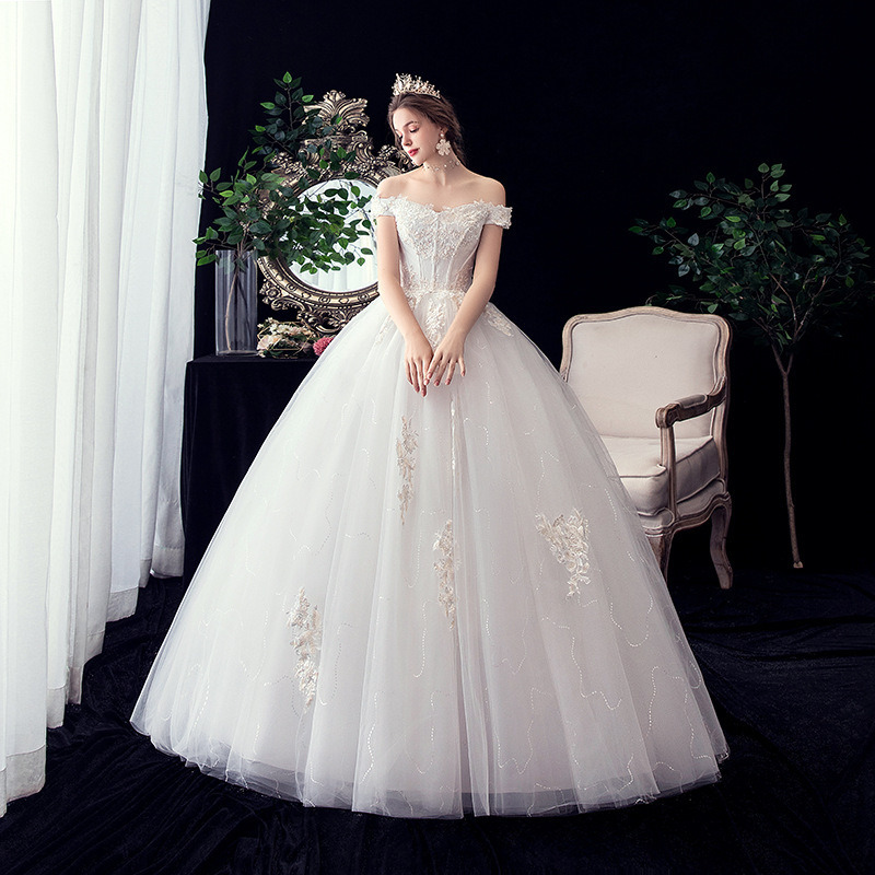 YULUOSHA Sexy Wedding Dress Appliques Modest Dress For Women Crystal Rhinestone Zippers Luxury Wedding Dress Vestido De Novia