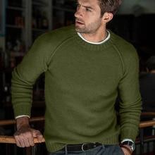 Однотонный свитер для мужчин на осень и зиму, новинка, повседневный облегающий мужской вязаный свитер, комфортный свитер О образный вырез трикотаж, пуловер для мужчин, мужская одежда, о образный вырез трикотаж