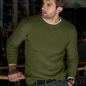 Image 1 - סתיו החורף מוצק סוודר גברים החדש מקרית Slim Fit Mens סרוג סוודרים נוחות O צוואר סריגי סוודרים גברים S 3XL למשוך Homme