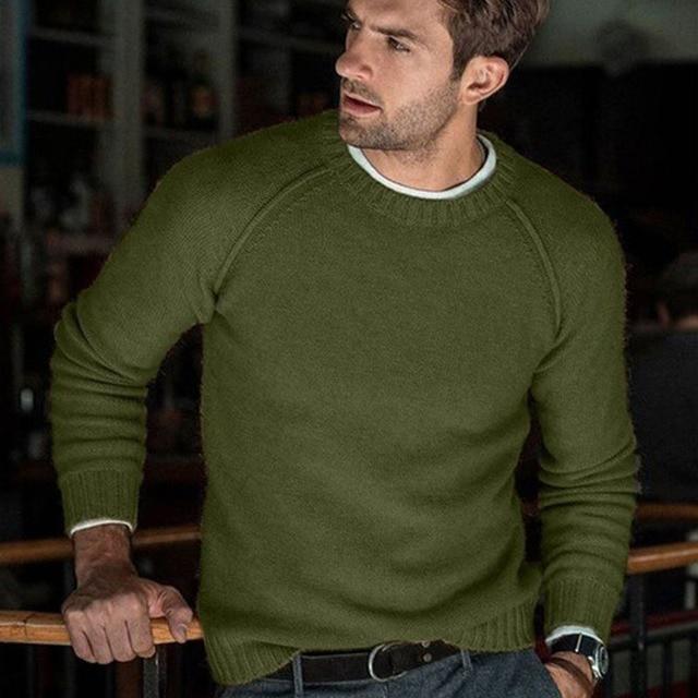 סתיו החורף מוצק סוודר גברים החדש מקרית Slim Fit Mens סרוג סוודרים נוחות O צוואר סריגי סוודרים גברים S 3XL למשוך Homme