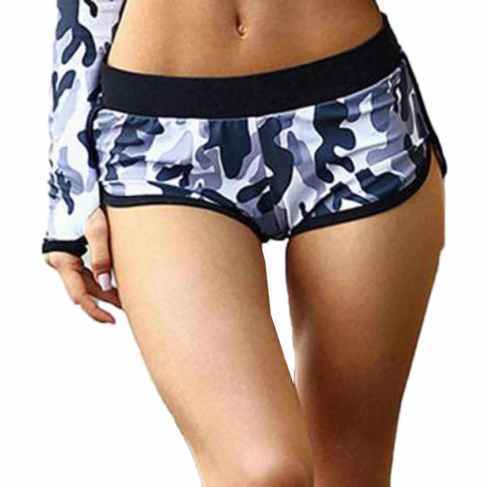 New ladies yoga sweatpants Women Camouflage Running Yoga Gym Fitness Sport shorts Low-Waist Shorts Breathable shorts