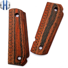 2Pieces Gun 1911 High-quality Mahogany Handle Patch Custom CNC Gun Handle Knife Handle Material