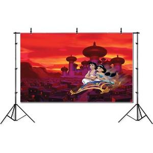 Image 2 - Fotografie Achtergrond Aladdin Lamp Cartoon Prinses Achtergrond Verjaardag Party Jasmijn Achtergronden Fotostudio Photocall Photo Prop