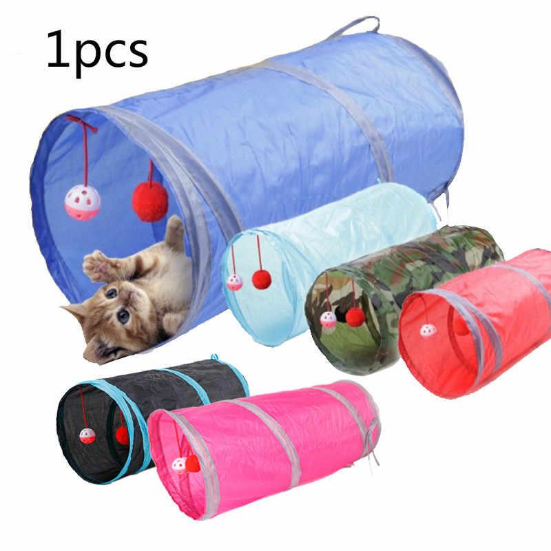 수에프 5 색 고양이 개 흰 족제비 터널 튜브 통로 수용 접이식 드릴 배럴 애완 동물 장난감 funl @ 03