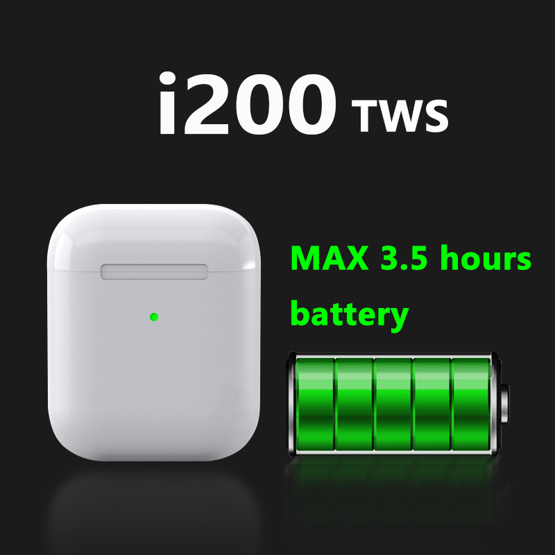 Tws i200 Tws sans fil bluetooth Sports écouteurs charge PK W1 H1 capteur contrôle du robinet écouteurs i80 i12 i9 i30 i60 i20 i100 TWS