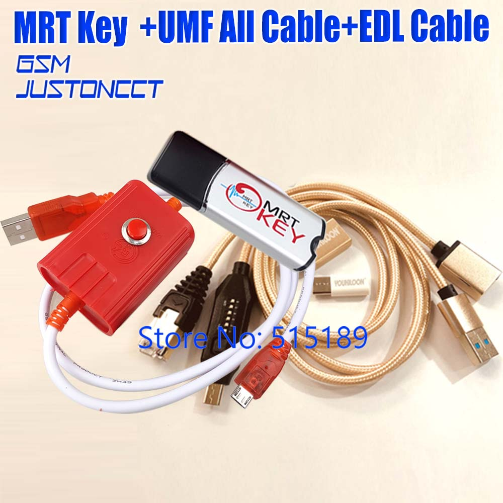MRT Dongle MRT Key Mobile Repairing Tools + UMF All IN 1 Boot Cable + EDL 9008 CABLE + Micro USB To Type-C Adapter