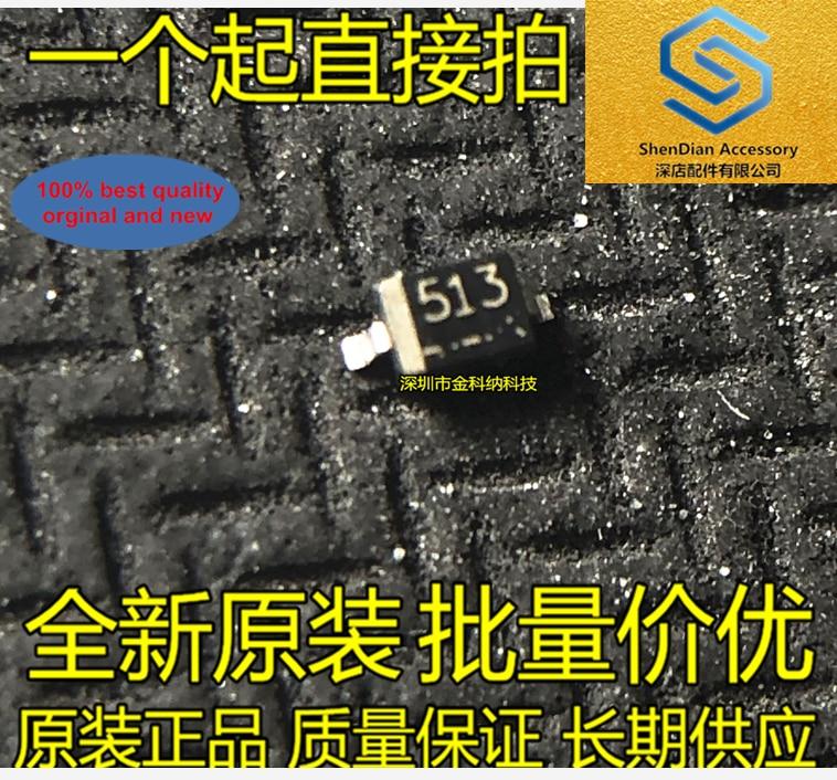 50pcs 100% Orginal New RD5.1S-T1 Silk 511 512 5.1V SOD-323 SMD Diode Zener Diode 0805 Real Photo