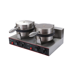 Commercial Waffle Pancaker Maker Stainless Steel Two-Plate Ice Cream Cone Making Machine
