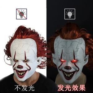 Image 2 - Маска Стивена Кинга это маска пеннивайз ужас клоун Джокер маска клоуна реквизит для костюма на Хэллоуин