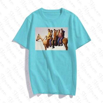 Friends Tv Fashion Art Tshirt Women Aesthetic Casual Korean Style Cotton Skipoem Short Sleeve Colorful Clothes Tee Shirt Femme new cotton women t shirt friends tv fashion art fashion artwork print short sleeve tops