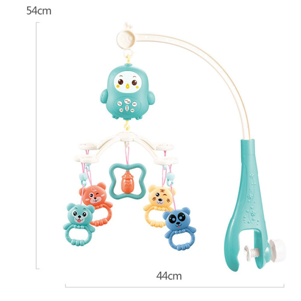 Kuulee Baby Rattle Plastic 0-3 Years Old Bed Bell Newborn Baby Music Rotating Bedside Bell Toy Remote Control Reduces Crying