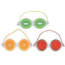Multi-Use Ice Gel Eyepatch Cold Pack Warm Hot Ice Cool Soothing Tired Massage Relaxing Shading Blinder Cover Sleep Eye Mask(China)