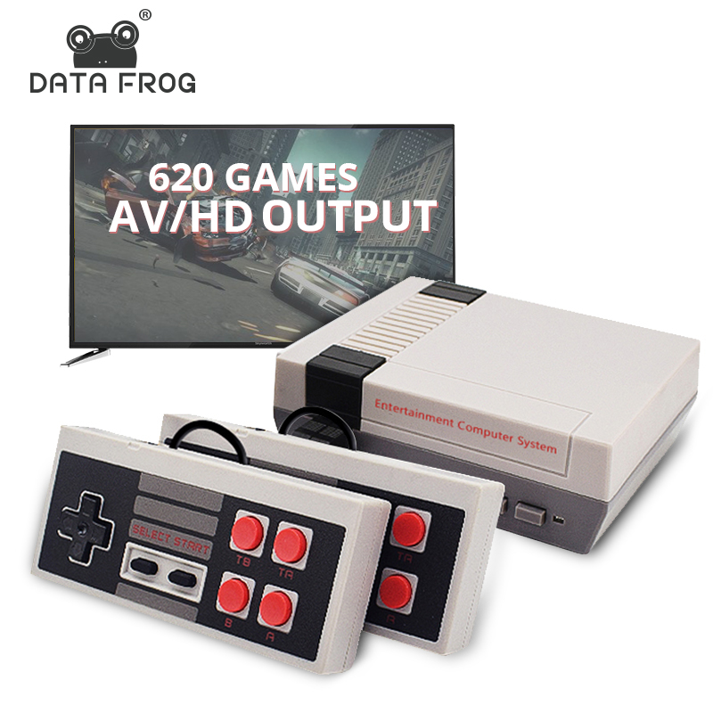 Data Frog Retro Video Game Console AV/HD Output TV Consoles Built-in 620 Classic Games Dual Gamepad Gaming Player