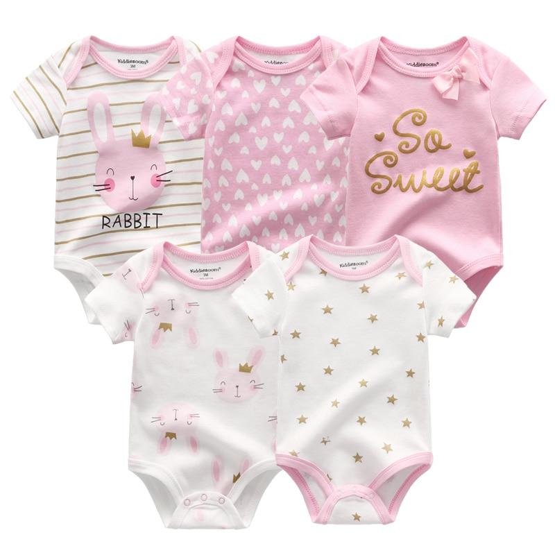 Ha28d5332c14341c48de5ff95938f92245 2019 5PCS/Lot Baby Boys Clothes Unicorn Girls Clothing Bodysuits Baby Girls Clothes 0-12M Newborn 100%Cotton Roupas de bebe