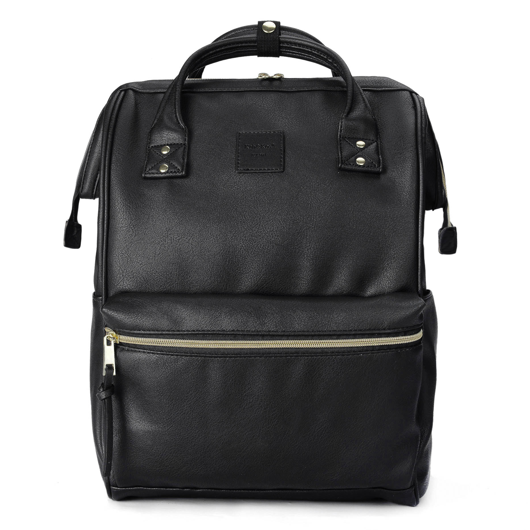 Kah&Kee Leather Backpack Diaper Bag With Laptop Compartment Travel School For Women Man