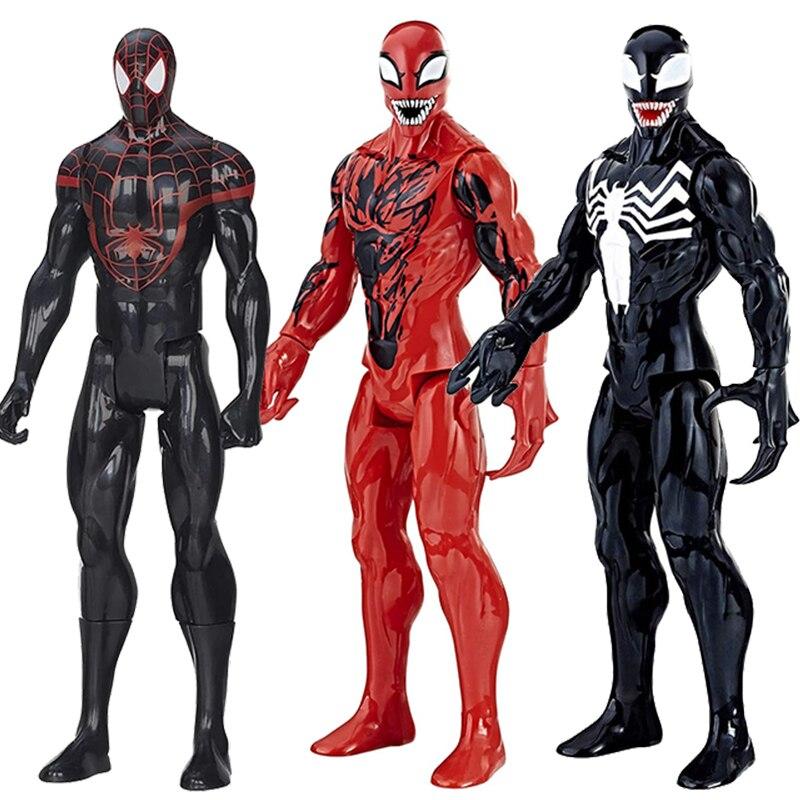 12'' Marvel Avengers Venom Figurine Titan Hero Carnage Venom Action Figure Collection Doll Christmas Gift Toys For Children Boy