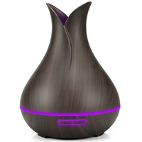 Alexa Google App Voice Control 400ml USB Electric Aromatherapy Air Diffuser Wood Ultrasonic Smart  wifi Air Humidifier Home Humidifiers     -