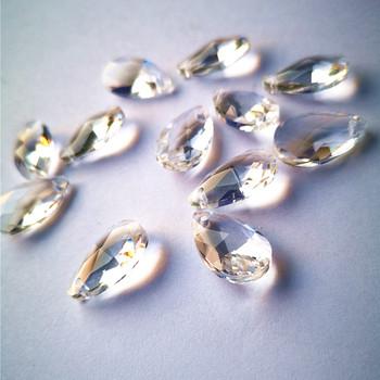 Najwyższa jakość 20 sztuk partia 22mm Crystal Clear kąt łza gruszka żyrandol Faceted oświetlenie pryzmaty DIY szkło Suncatcher akcesoria tanie i dobre opinie CN (pochodzenie) 12mm Kryształowy żyrandol GLX0213 k9 crystal Chandelier parts lighting parts 20pcs