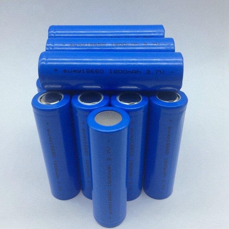 Nouvelle Bateria 18650 3.7v 1800mAh Lithium Ion Batterie 18650 pour Batterie portable solaire 18650 Rechargeable Batterie Avec Chargeur
