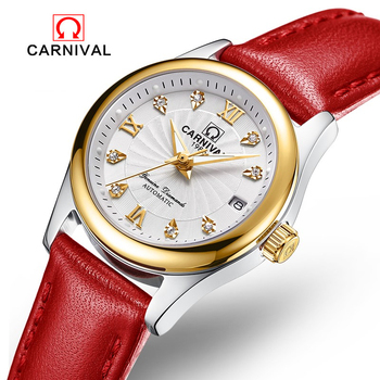 Reloj Mujer CARNIVAL Brand Luxury Ladies Watch Fashion Waterproof Sapphire Crystal Automatic Mechanical Watches For Women Clock reloj mujer carnival brand women mechanical watch ladies luxury fashion waterproof luminous sapphire crystal automatic watches