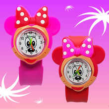 Cute Mickey Minnie Toys Children Watch for Girls Boys Baby Christmas Gift Primar