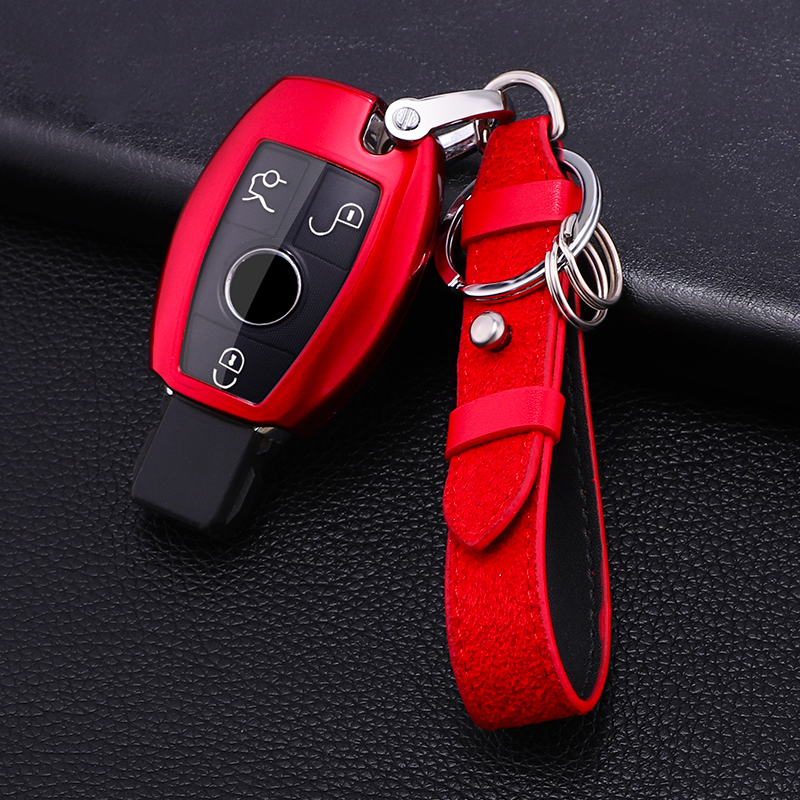 Hot sale PC+TPU Car Key protect Case Cover For Mercedes Benz W203 W210 W211 W124 W202 W204 W212 W176 AMG CarAccessories Keychain image