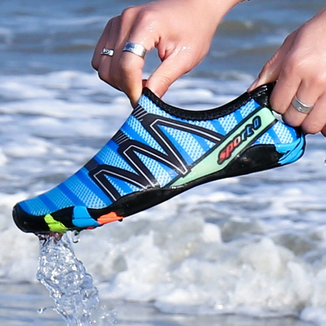 2020 Men Woman Beach Summer Outdoor Wading Shoes Swimming Slipper On Surf Quick-Drying Aqua Shoes Skin Sock Striped Water Shoes 1