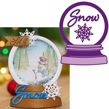 Модель со снежинками хрустальный шар металлические высекальные формы со снежинками в мяч пресс-формы для изготовления открыток scarpbook, сделай сам, новинка, тиснением карты ремесел