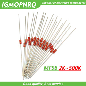 Resistor térmico de 20 pces ntc mf58 3950 5% b 2k 5k 10k 20k 50k 100k 200k 500k ohm resistor térmico