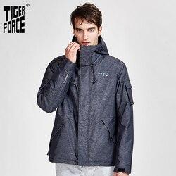 TIGER FORCE 2020 nueva chaqueta deportiva de primavera otoño con capucha casual chaquetas y abrigos para hombres con cremallera ropa de abrigo 50612