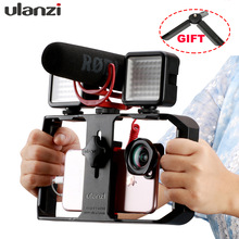 Ulanzi U Rig Pro Handheld Smartphone Video Rig Handle Grip Cold Shoe Mounts Vlogging Rig Stabilizer for iPhone Videomakers